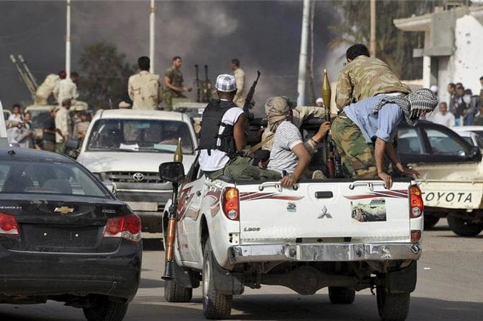 Rival militias clash in southern Sabha city in Libya this March 2012 file photo [Reuters]