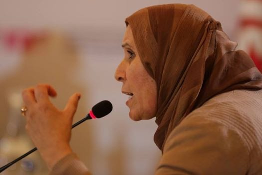 Basma Balie at a hearing of Tunisia's Truth and Dignity Commission [Ictj.org]