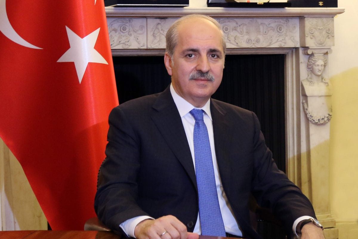 Numan Kurtulmus, Deputy Prime Minister of Turkey [Jehan Alfarra/Middle East Monitor]