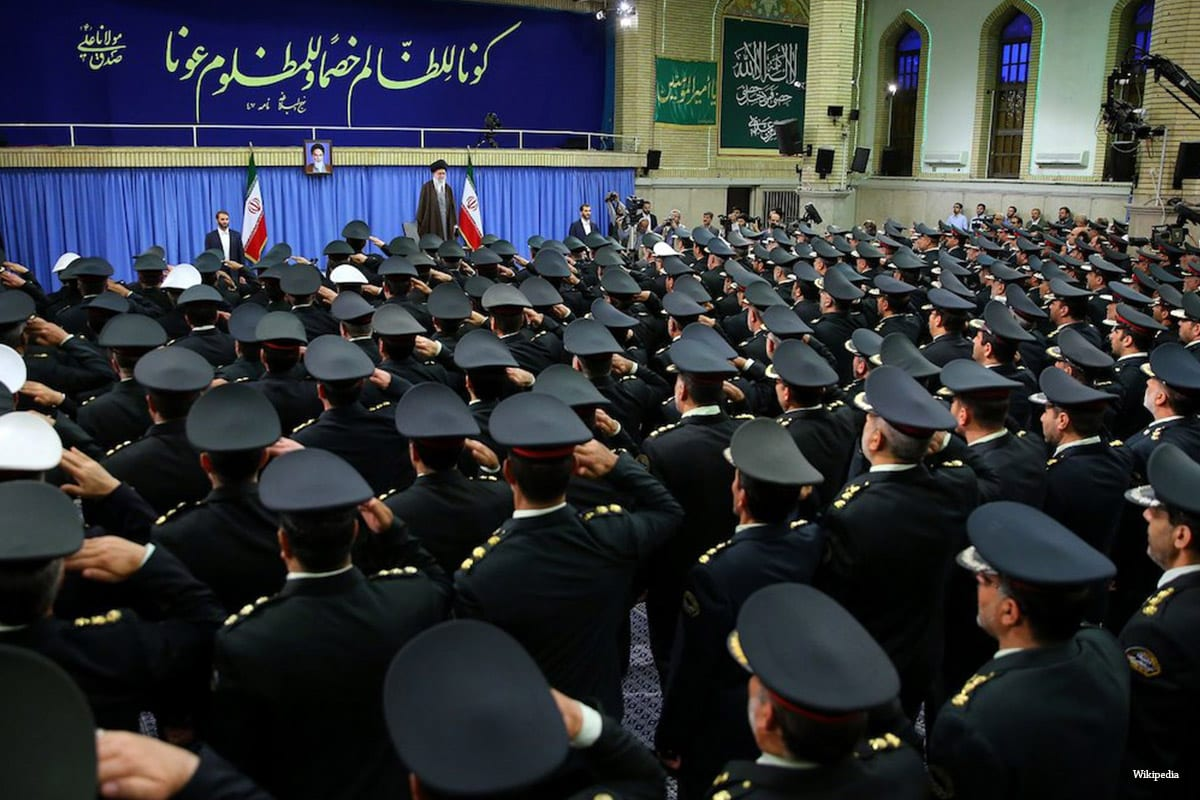 Officers and officials of the Police Force met Ayatollah Khamenei, Commander and Chief of the armed forces [Wikipedia]