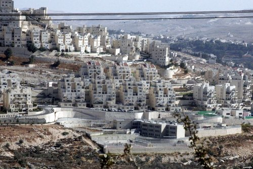 Image showing construction work to expand the Israeli settlement in Jerusalem [Mahfouz Abu Turk / ApaImages]