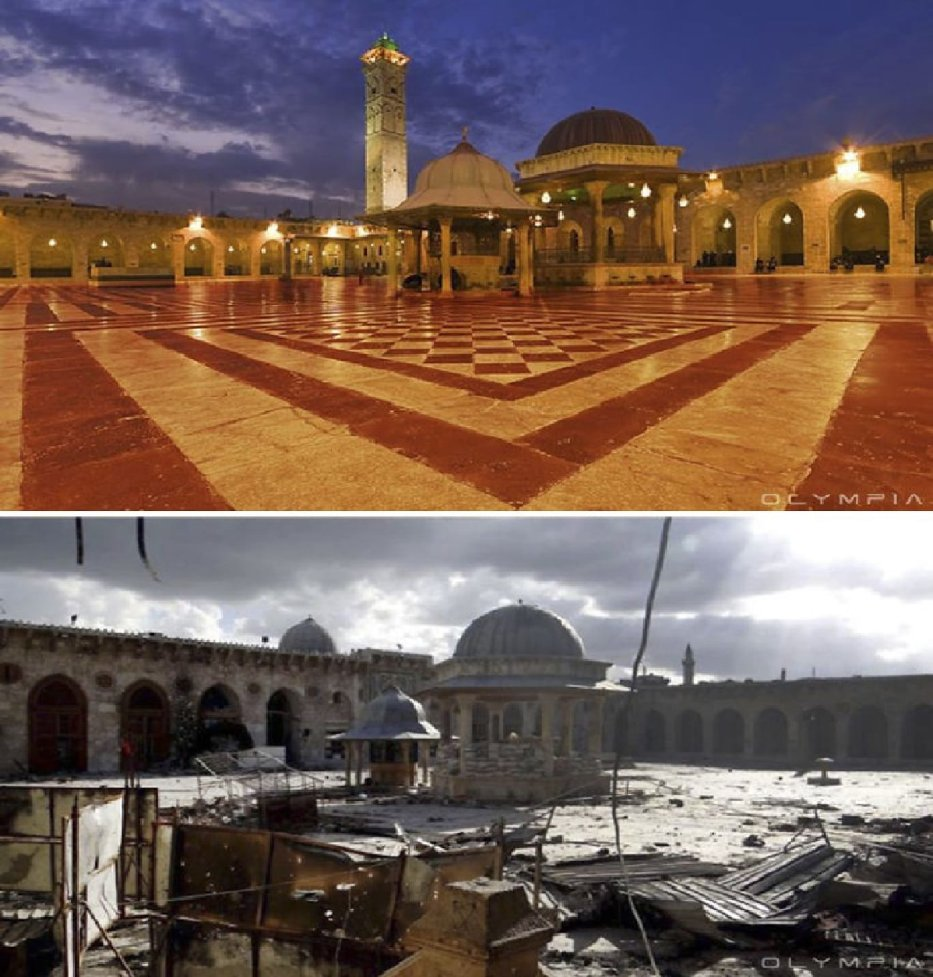 The Umayyad Mosque in Old Aleppo (Carlo Ohanian/Olympia)