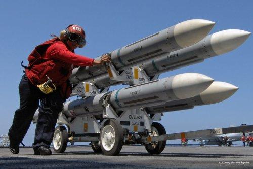 Image of US airstrikes [U.S. Navy photo/Wikipedia]