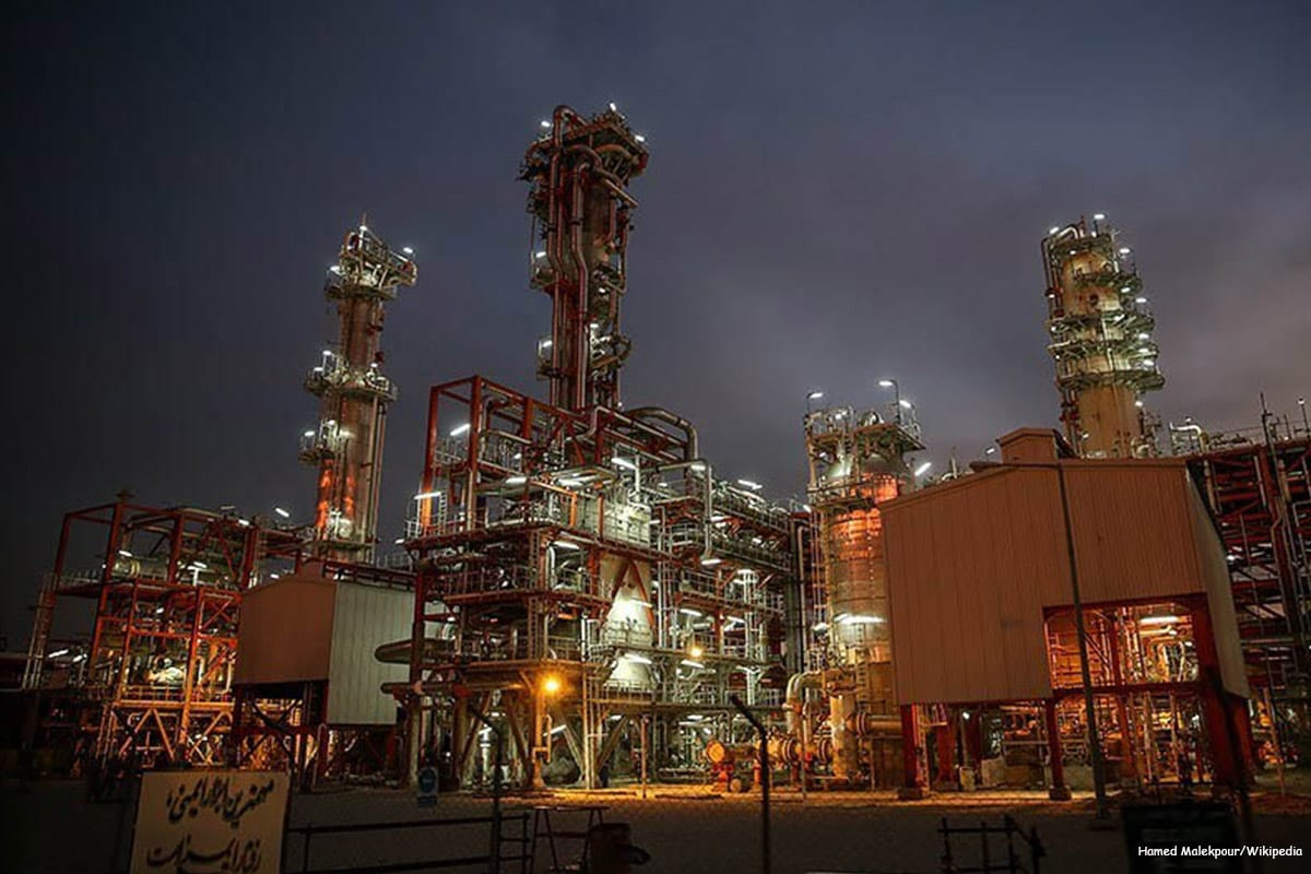 Image of the South Pars Gas Complex plant in Iran [Hamed Malekpour/Wikipedia]