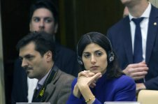 Rome's' Mayor Virginia Raggi attends a summit on refugees, in Vatican City, Vatican on December 10, 2016. [Riccardo De Luca / Anadolu Agency]