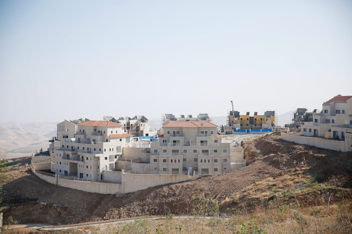 Image of Israeli settlements under construction on Palestinian land in Jerusalem, on December 29, 2016 [Daniel Bar On/Anadolu]