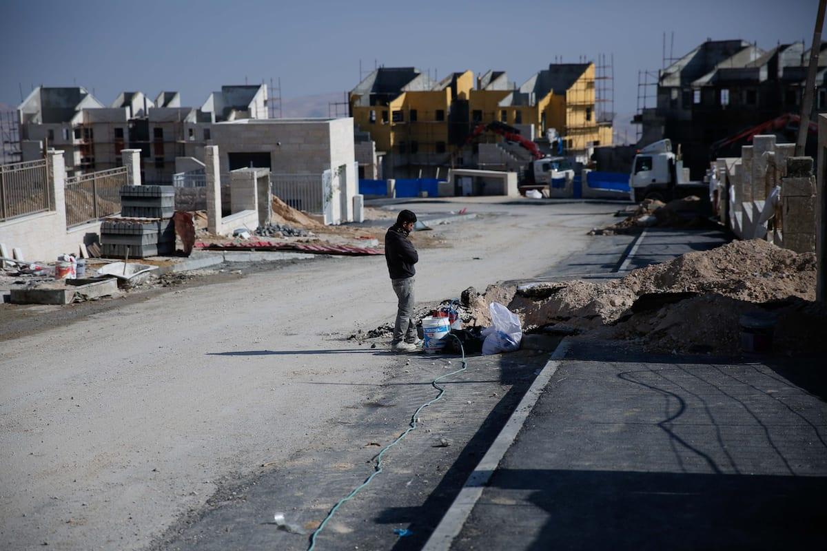 Settlement construction work continues in east of Jerusalem, Israel [Daniel Bar On/Anadolu]