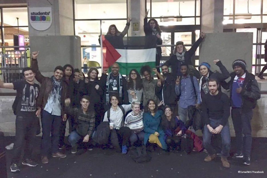 Image of students from the University of Manchester on December 11, 2016 [@IsraelWC/Facebook]