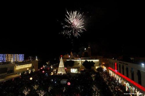Christmas decorations in Bethlehem [Wisam Hashlamoun/Apaimages]