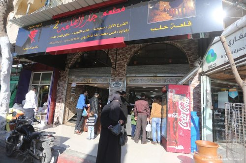 After the start of the war in Syria, the Aleppo Citadel Cafe relocated to the Gaza Strip [Mohammed Asad/Middle East Monitor]