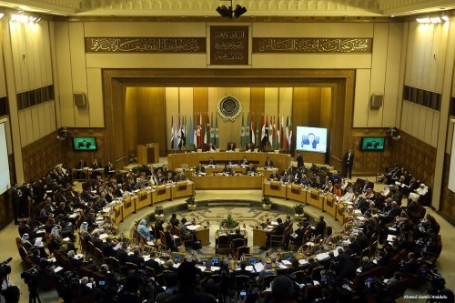 Image of the Arab League session at the Arab League office in Cairo, Egypt [Ahmed Gamil/Anadolu]