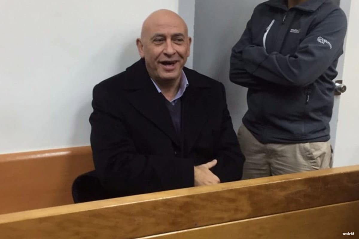 Image of Basel Ghattas, a member of the Israeli Knesset in court [arab48]