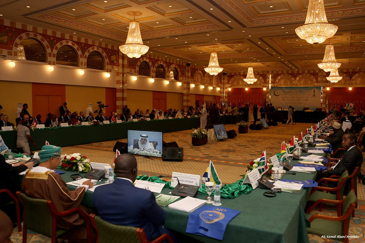 Image of the session organised by Organisation of Islamic Cooperation (OIC) held in in Jeddah, Saudi Arabia [Ali Kemal Akan/Anadolu]
