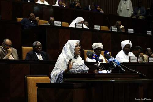 Image of Sudanese parliament in session [Ebrahim Hamid/Anadolu]