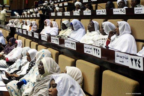 Image of Sudan MPs attending a parliamentary session [Ebrahim Hamid/Anadolu]