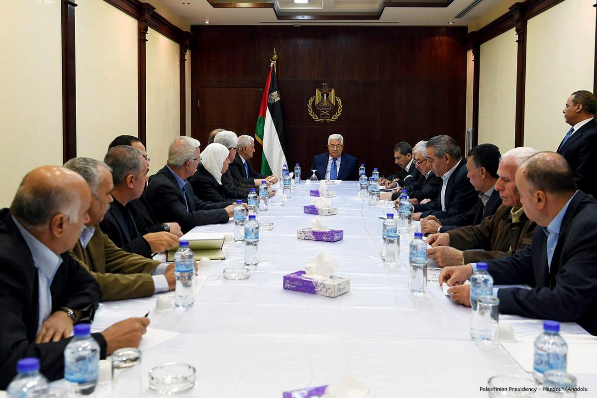 Image of the first meeting of Fatah congress in Ramallah, West Bank on December 5 2016 [Palestinian Presidency - Handout/Anadolu]