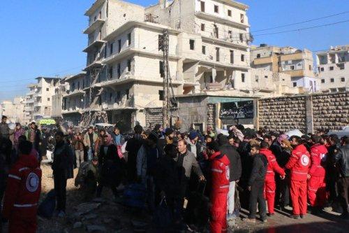 Image of civilians wait to be evacuated from eastern Aleppo, Syria on 15 December 2016 [Mamun Ebu Ömer/Anadolu Agency]