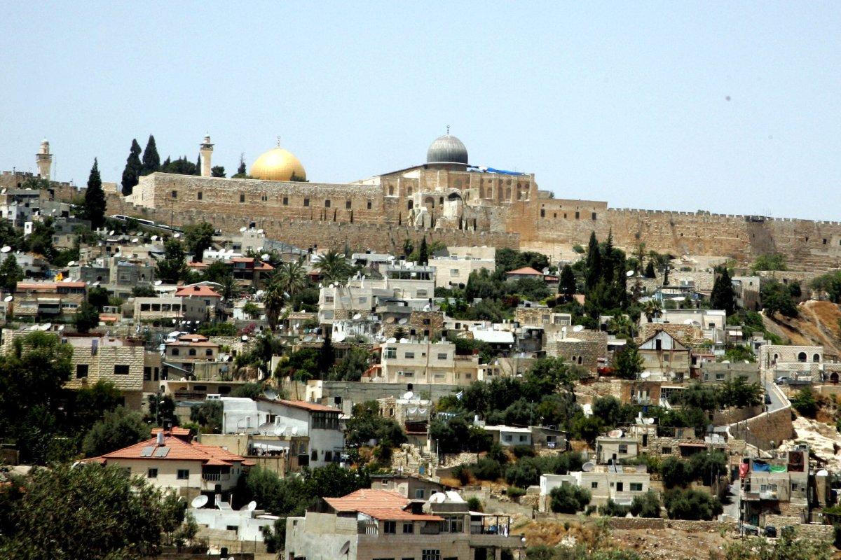 General view to the east Jerusalem neighbourhood of Silwan 21 June 2010. [Mahfouz Abu Turk/APA Images]