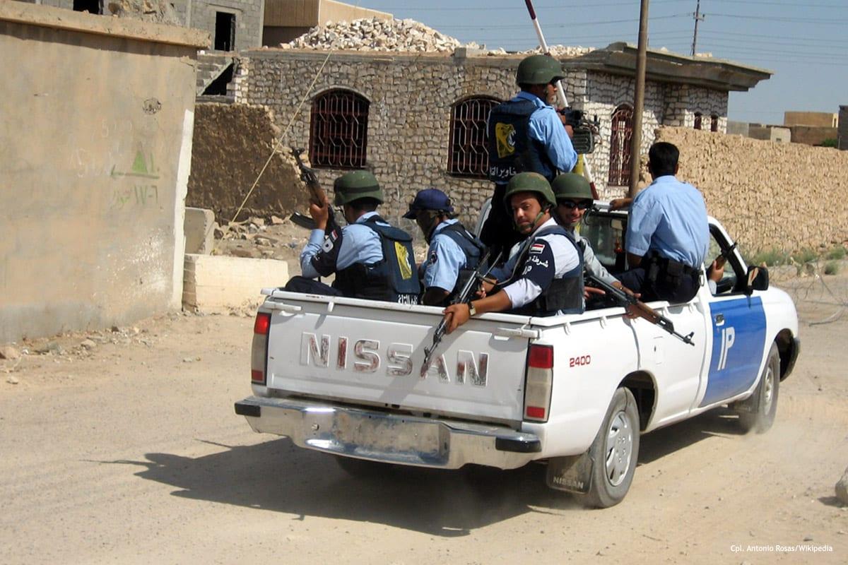 Image of Iraqi police [Cpl. Antonio Rosas/Wikipedia]