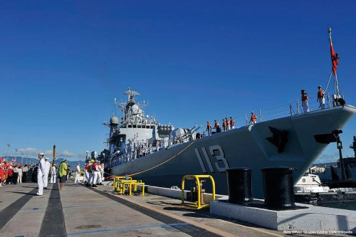 Image of a Chinese navy ship [Petty Officer 1st Class Cynthia Clark/Wikipedia]
