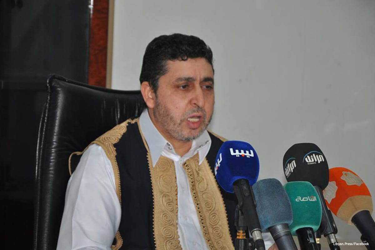 President of the National Salvation Government, Khalifa Ghwell [Libyan.Press/Facebook]