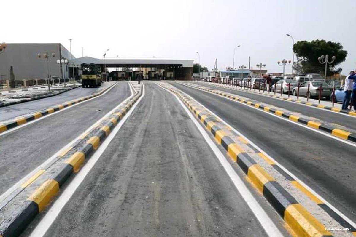 Image of the Ras Ajdair crossing [Lyobserver/Twitter]