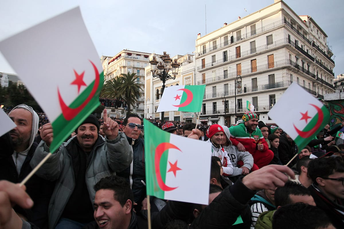 Demonstrations in Algiers, Algeria on 19 January, 2017 [Bechir Ramzy/Anadolu Agency]