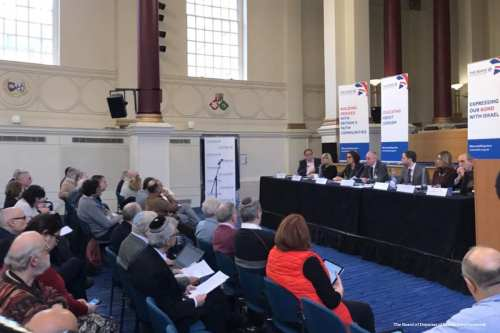 Image of members from The Board of Deputies of British Jews in a meeting on 15th January 2017 [The Board of Deputies of British Jews/Facebook]