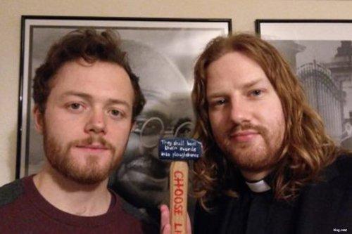 Image of Daniel Woodhouse and Quaker Sam Walton [blog.caat]
