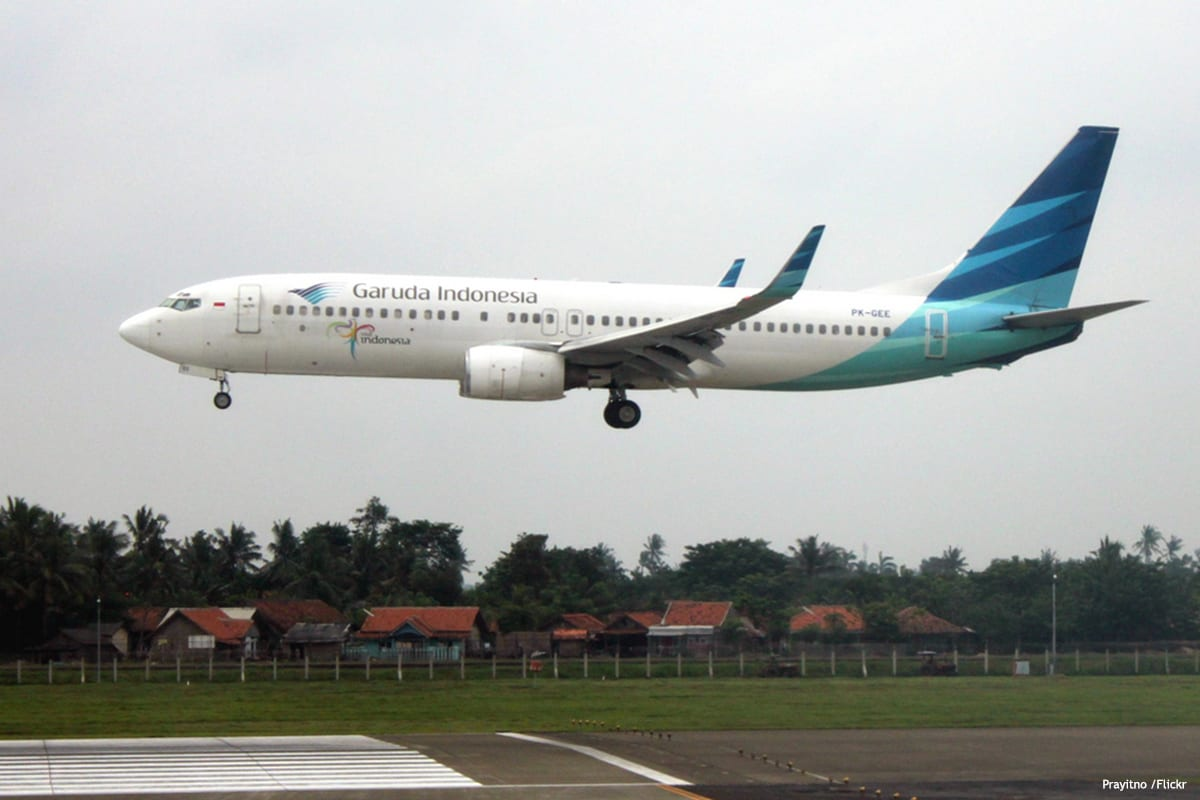 Image of an Indonesia plane taking off [Prayitno /Flickr]