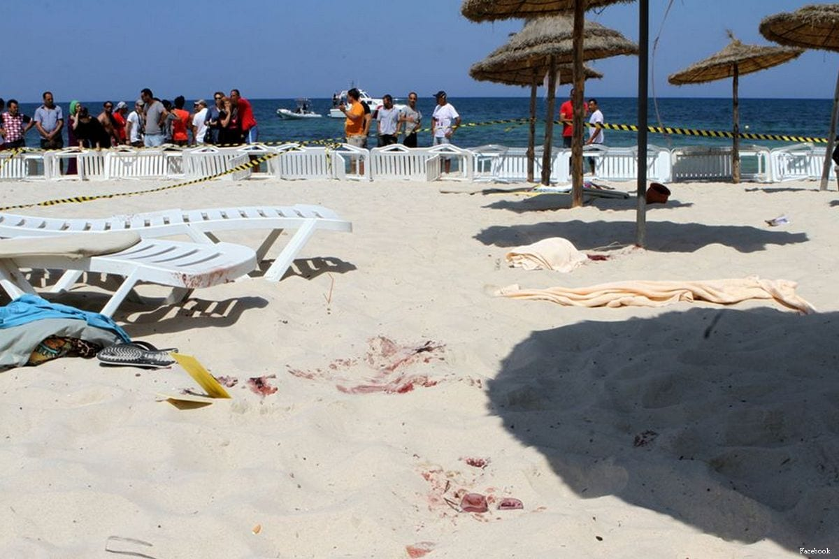 The aftermath of the Sousse terror attack that took place on 26th June 2015 in Tunisia [Facebook]