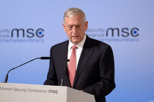 Secretary of Defence James Mattis on 17 February, 2017 [Andreas Gebert/Anadolu Agency]