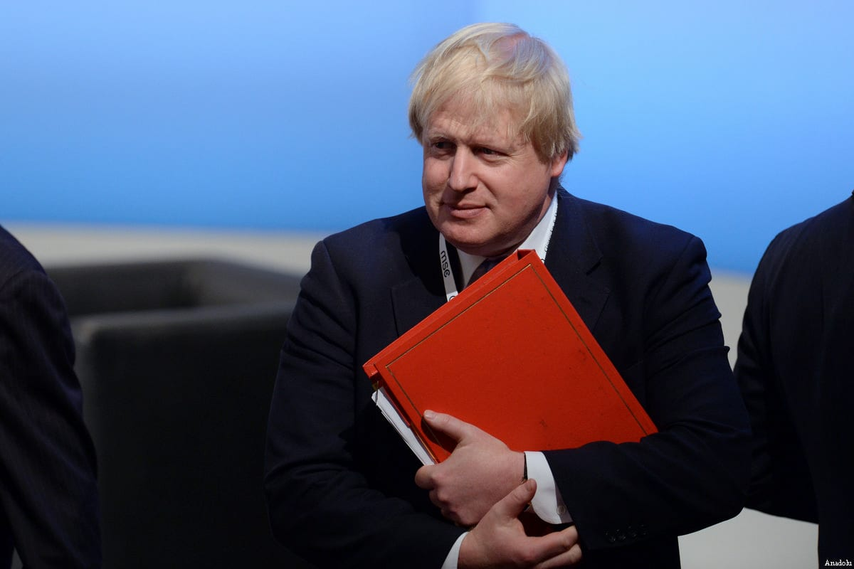 British Foreign Secretary Boris Johnson [Andreas Gebert / Anadolu Agency]