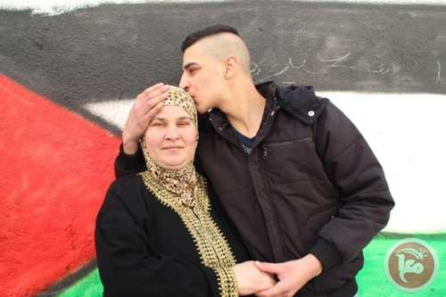 17-year-old Majd Nadir Saida, a former Palestinian prisoner, and is mother