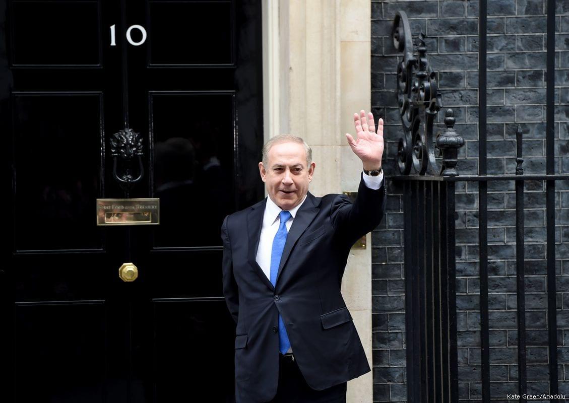 Israeli Prime Minister Benjamin Netanyahu during his visit to the UK on 6 February 2017 [Kate Green /Anadolu Agency]