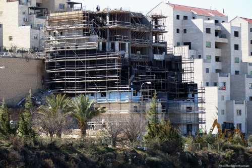 Image of settlement consruction work in West Bank, Israel on 7th February 2017 [Wisam Hashlamoun/Apaimages