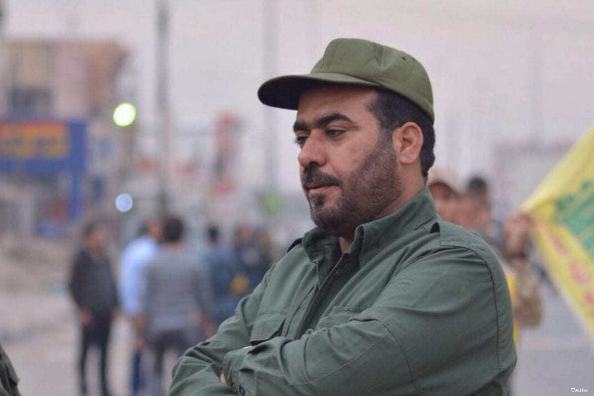 Image of Bassem Al-Moussawi, a senior leader within the Iran-backed Iraqi Hezbollah was assassinated [Twitter]