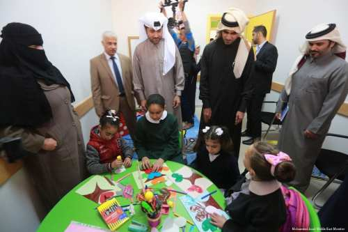 Image of Qatari delegations in Gaza to launch a number of projects [Mohammed Asad/Middle East Monitor]