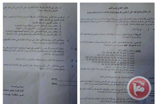 Israeli demolition orders to the village of Beituniya