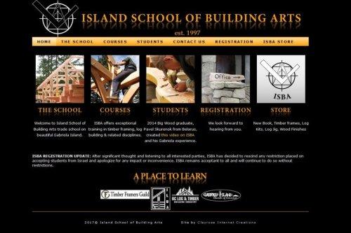 Canada's Island School of Building Arts (ISBA)