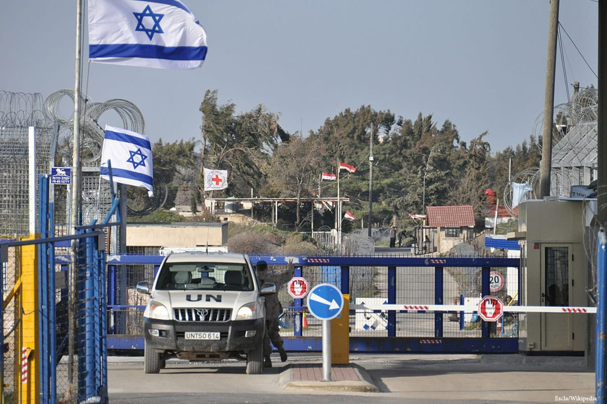 Image of Israeli and UN forces at the Golan Heights border [Escla/Wikipedia]