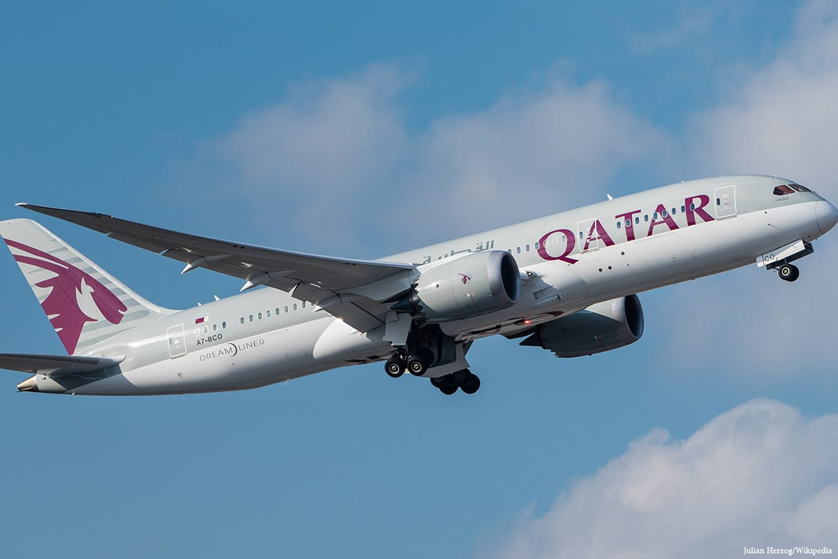 Qatar Airways plane [Julian Herzog/Wikipedia]
