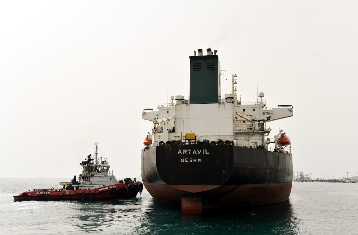 A general view of the Port of Kharg Island Oil Terminal, in the Persian Gulf on March 12, 2017( Fatemeh Bahrami/Anadolu)