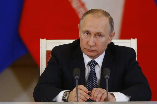 Russian President Vladimir Putin in Moscow, Russia on March 28, 2017. ( Sefa Karacan/ Anadolu Agency )