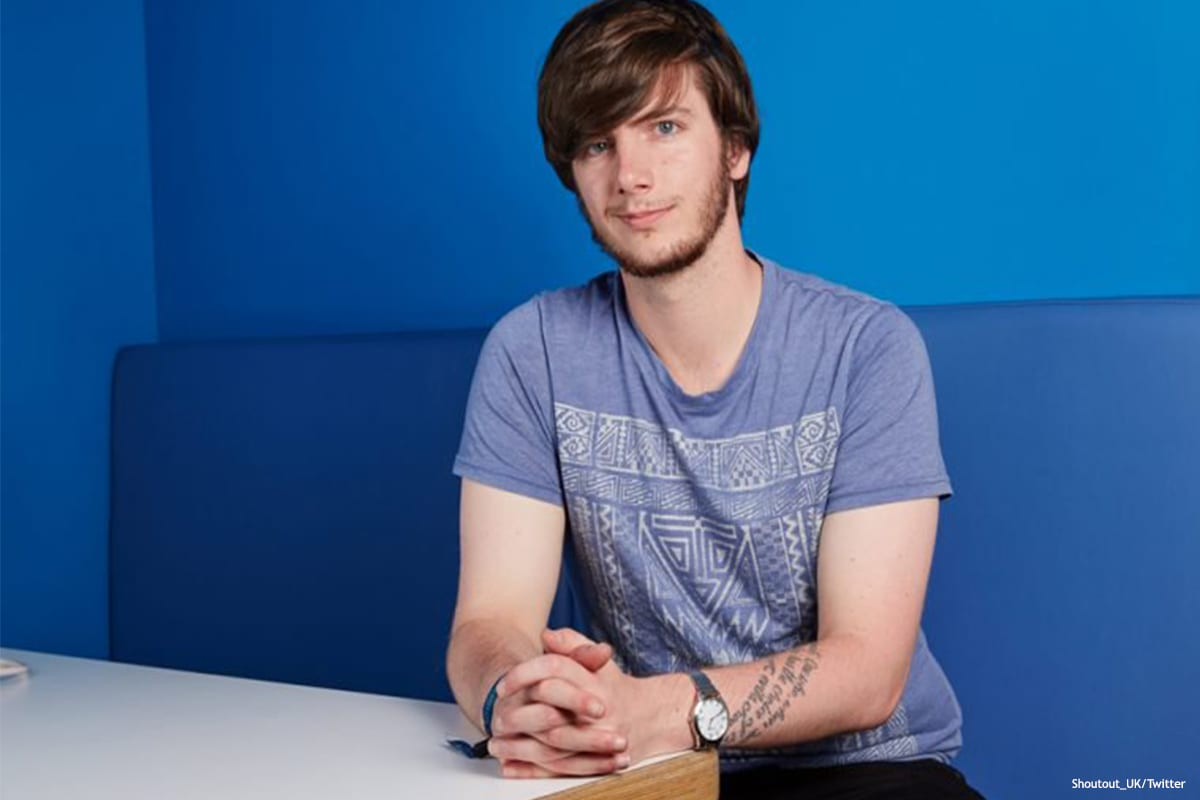 Image of Richard Brooks, a vice president with the NUS [Shoutout_UK/Twitter]