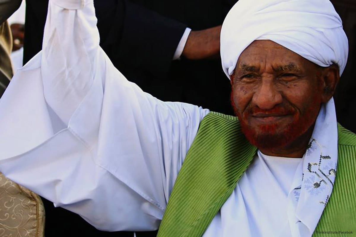 Image of former Sudanese Prime Minister and leader of the National Umma Party, Sadiq Al-Mahdi [Facebook]
