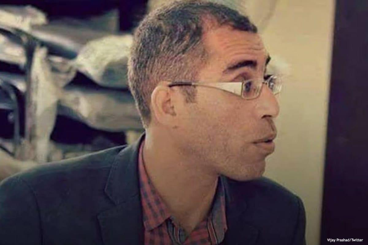 Image of Palestinian Basel Al-Araj who was shot dead by Israeli forces on 6 March 2017 [Abeer-Almasri/Twitter]