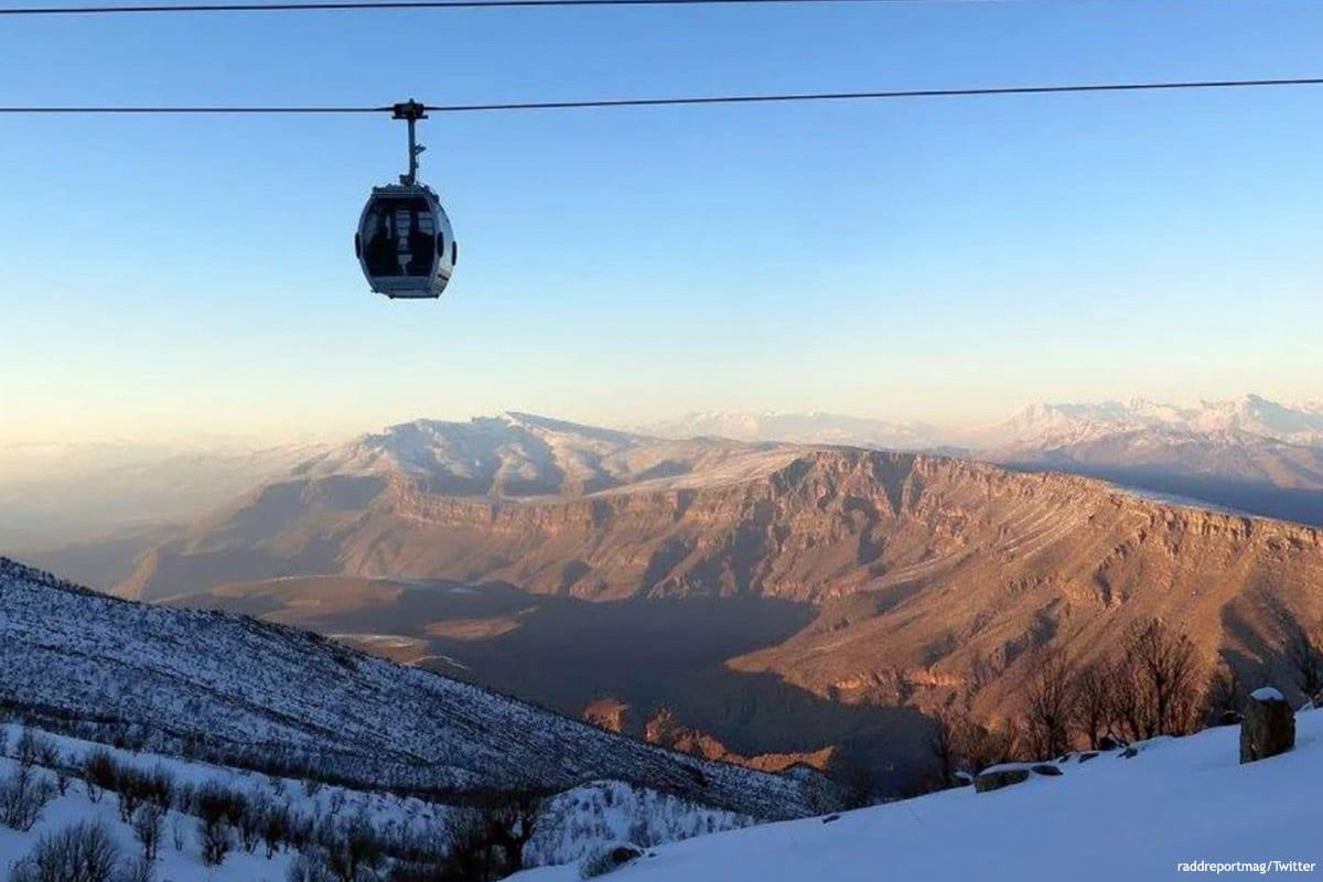 Image of a ski resort in Iraq [raddreportmag/Twitter]