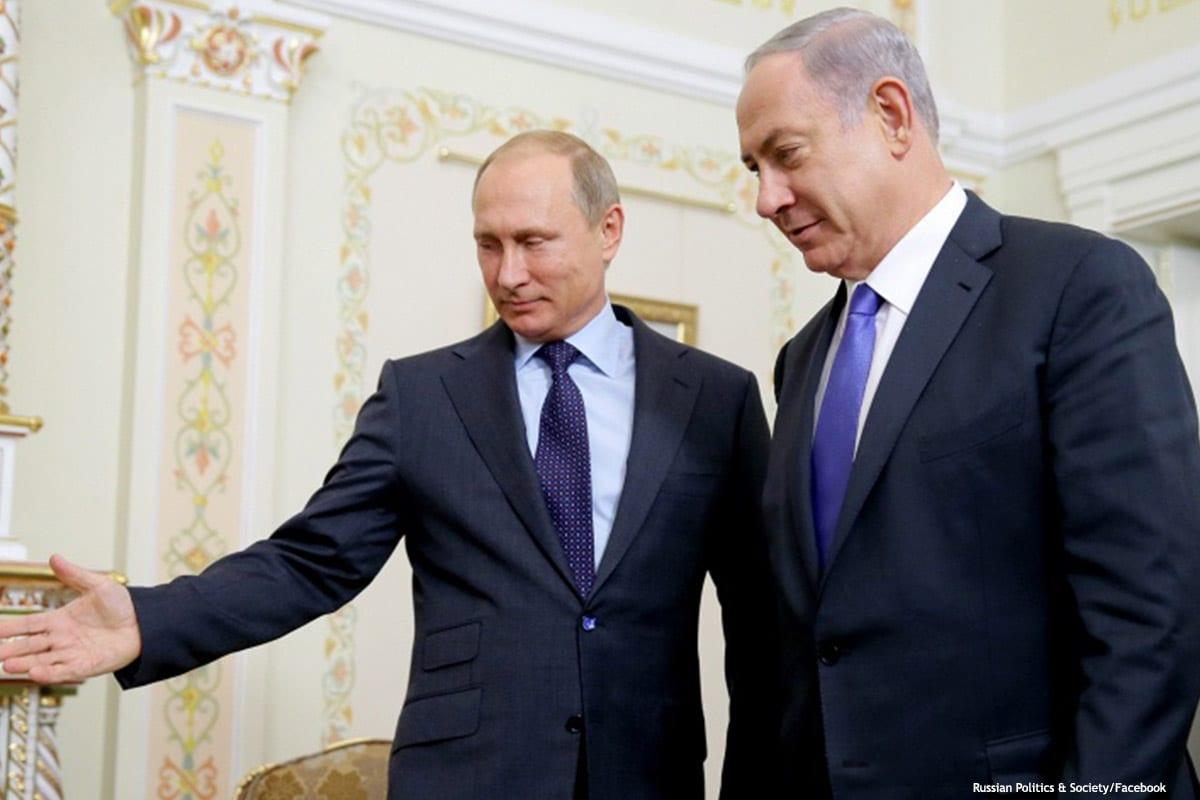 Image of Israeli Prime Minister Benjamin Netanyahu and Russia's President Vladimir Putin [Russian Politics & Society/Facebook]