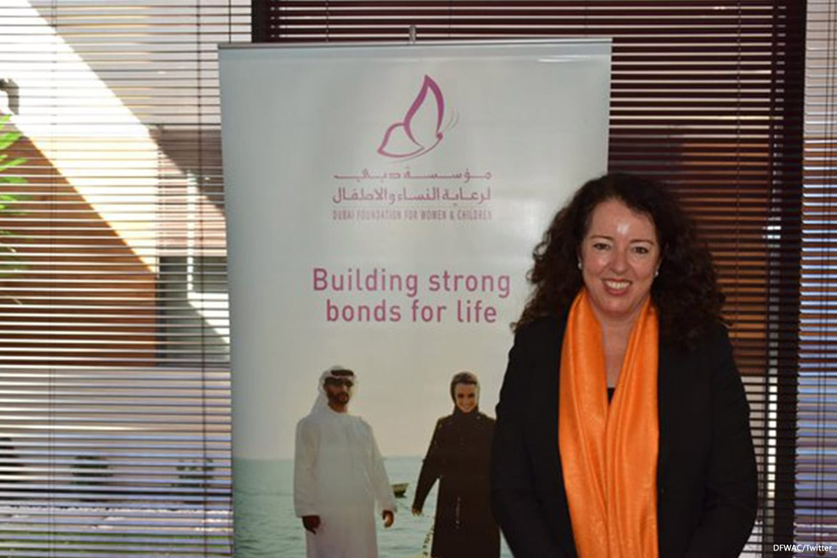 Image of the ambassador of Switzerland to the UAE, Maya Tissafi [DFWAC/Twitter]